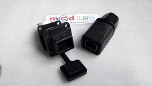 waterproof connector LAN (RJ45) for running text